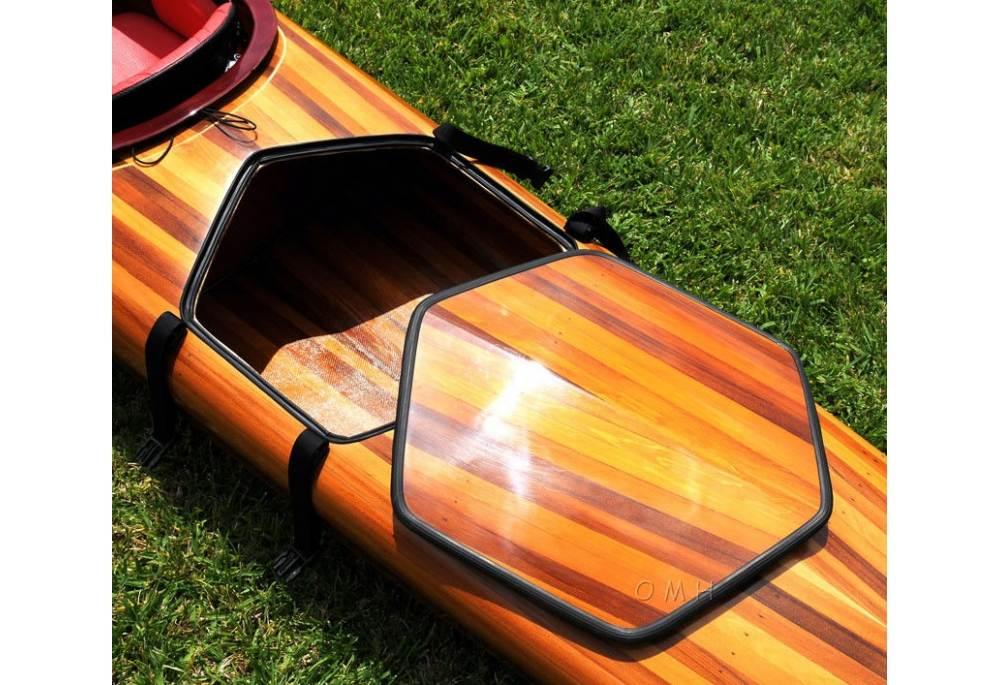 18 feet hudson kayak hand made from cedar wood strip for Hudson ribs and fish