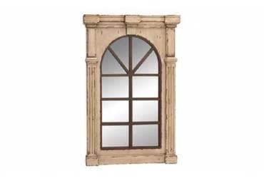 """Rustic Wood Wall Mirror 48"""""""