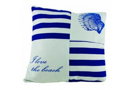 "I Love The Beach Pillow 15"""