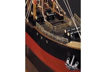 1897 Steamer Wooden Cargo Ship Model