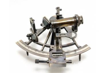 Sextant in Wood Box Maritime Instrument Nautical Gift