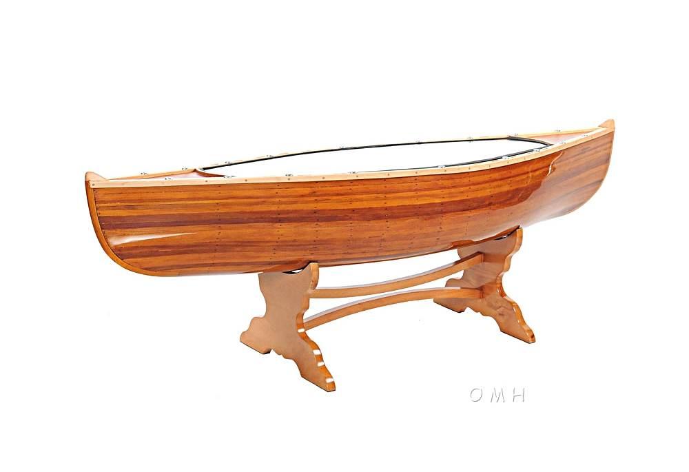 Nautical Theme Furniture 100 Handmade Wooden Canoe Table 5 Feet