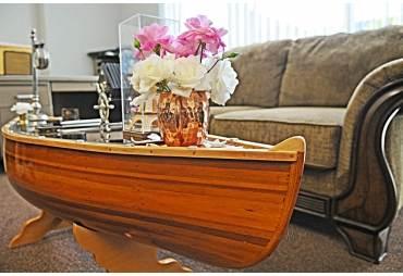 100% Handmade Wooden Canoe Table 5 Feet