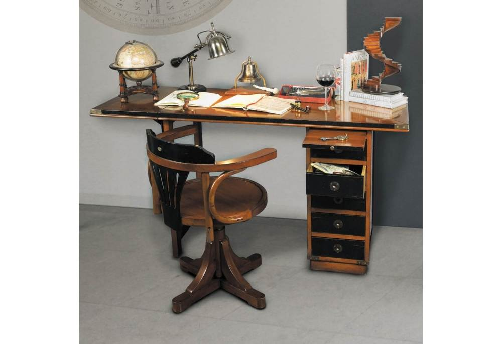 Captains Folding Desk Nautical Furniture