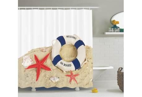 Coastal Shower Curtain Custom Made Design