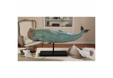 Whale Statue Nautical Decor