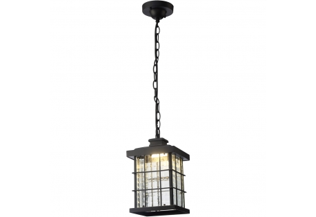 LED 7 inch Black Outdoor Coastal Pendant