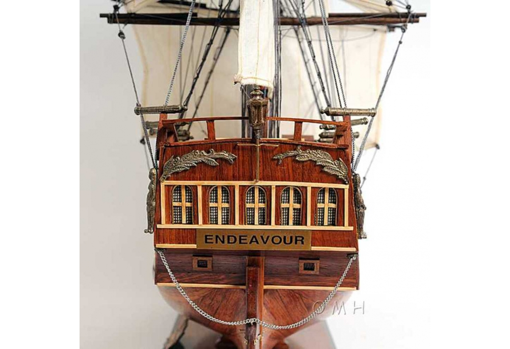 Hms Endeavour Wooden Tall Ship Model Ship Scaled Replica