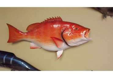 "32"" RED SNAPPER HALF MOUNT FISH REPLICA"