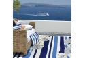 Sand Dollars on Blue Stripes Coastal Area Rug