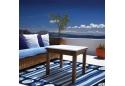 Coastal Nautical Area Rug With Shells Indoor/Outdoor 8'x10'