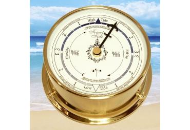 Brass Marine Tide Clock White Dial