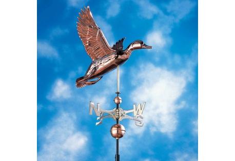 Copper Duck Weathervane