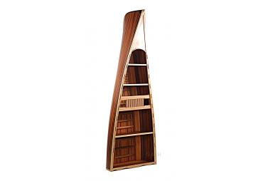 Canoe Wood Hand Built Book Shelf