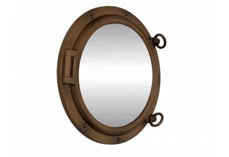 """Bronzed Porthole Mirror 15"""""""