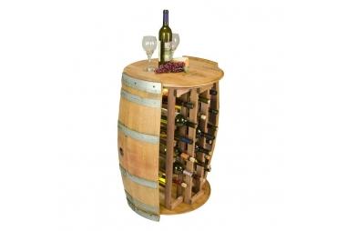Handmade 28 Bottle Round Wine Rack