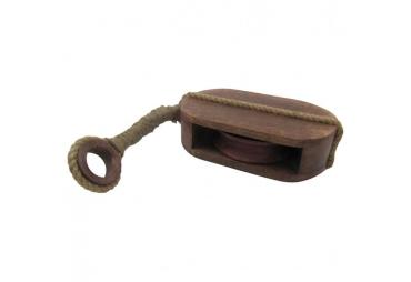 Wooden Pulley Block Tackle Single Wheel