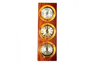 Weather Station Clock, Barometer, Hygrometer