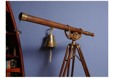 Brass Harbor Master Telescope with Tripod
