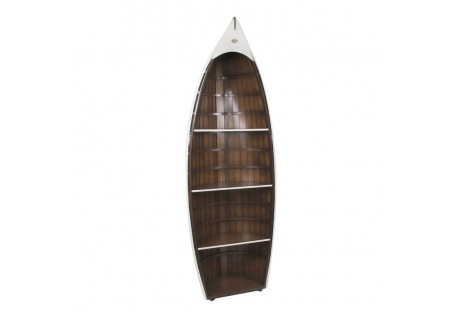 Bosun's Gig White Row Boat Bookcase