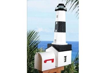 Montauk Solar Powered Lighthouse Mailbox