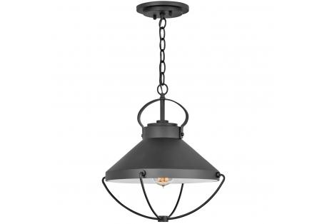 Nautical Theme lighting pendant : Cape Cod Black Outdoor Hanging Light