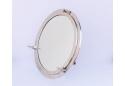 """Brushed Nickel Decorative Ship Porthole Mirror 30"""""""