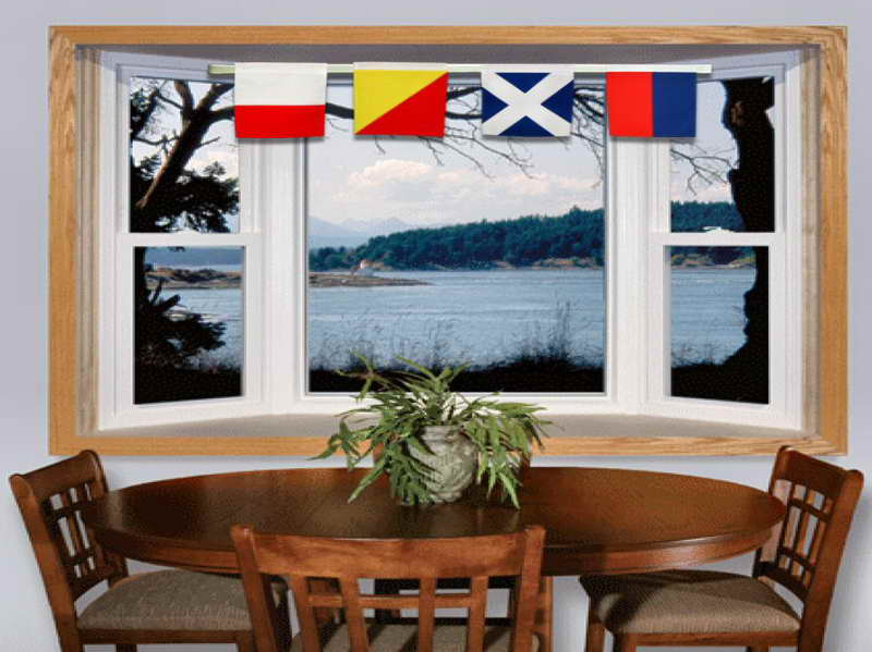 Nautical-Decor-for-Home-with-the-flags